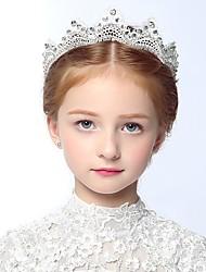 Girl's Headband Rhinestone Decorative Crown Flower Girl Hair Accessory