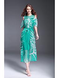 cheap -MMLJ Women's Sophisticated Street chic Sheath Dress Printing