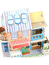 economico -Puzzle 3D Puzzle Modellino di carta Kit per costruzioni Casa Architettura Fiore decorativo 3D Fai da te Carta di alta qualità Classico 6