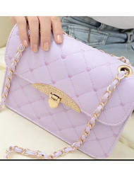 Women Bags All Seasons PU Shoulder Bag for Casual Outdoor White Black Purple