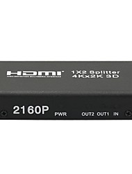 cheap -4K HDMI 1x2 2160P Splitter Full HD 1080P Amplifier HDMI Switch Switcher 1 in 2 Out Converter Adapter for HDTV DVD PS3 PS4
