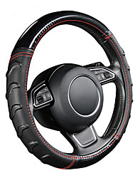 cheap -AUTOYOUTH Willow Patterned Massage Car Steering Wheel Cover Soccer Pattern Splice Light Leather Universal Fits Most Car Styling