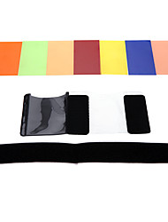 andoer® kit filtro quadrato 7 colori Speedlite universale con mgica Corea per Sony Canon Nikon olympus pentax e altri flash
