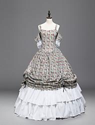 abordables -Vintage vestido patrón Victoriano Disfraz Mujer Baile de Máscaras Ropa de Fiesta Cosecha Cosplay Tejido Acolchado Manga Corta Hasta el