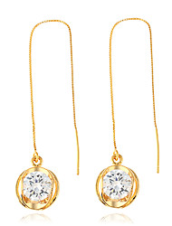 cheap -Women's Drop Earrings Hoop Earrings Unique Design Dangling Style Metal Alloy Rhinestone Geometric Jewelry ForParty Birthday Party/Evening