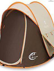abordables -3-4 personnes Tente Double Tente de camping Tente Pop Up Résistant aux ultraviolets Etanche pour Camping / Randonnée Autre matériel CM