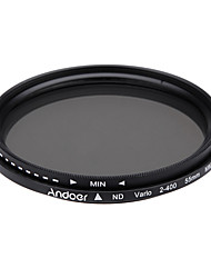 Andoer 55mm nd fader neutrale dichtheid instelbaar nd2 naar nd400 variabel filter voor Canon Nikon DSLR camera