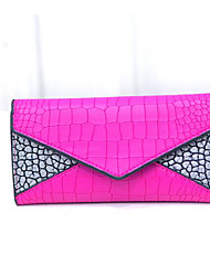 Women Checkbook Wallet PU All Seasons Casual Envelope Snap Black Fuchsia Navy Blue