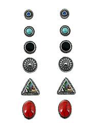 Femme Boucles d'oreille goujon Géométrique Alliage de métal Alliage Forme Géométrique Bijoux PourAnniversaire Rendez-vous Plein Air