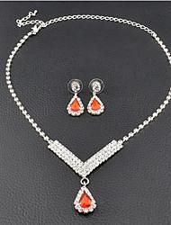 abordables -Mujer Pendientes colgantes Gargantillas Los sistemas nupciales de la joyería Rubí sintético Clásico Elegant Piedras preciosas sintéticas