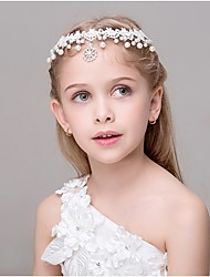 Girl's Headband Lace Decorative Pearl Snowflake Pendant Hair Accessory