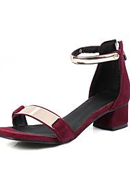 Women's Sandals D'Orsay & Two-Piece Leatherette Summer Casual Dress D'Orsay & Two-Piece Zipper Low Heel Ruby Beige Black 1in-1 3/4in