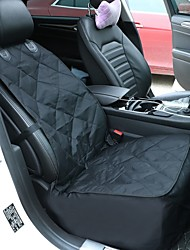 Cat Dog Car Seat Cover Pet Carrier Wateproof Portable Foldable Solid Black