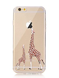 Per iPhone X iPhone 8 Custodie cover Transparente Fantasia/disegno Custodia posteriore Custodia Con logo Apple Animali Morbido TPU per