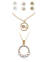 Dame Vedhæng Halskæde / Armbånd Halskæde / Øreringe Hængende Imiteret Perle Mode Personaliseret Euro-Amerikansk minimalistisk stil
