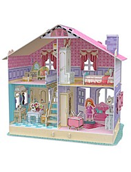 Bonecas Quebra-Cabeça Casa de Boneca Maquetes de Papel Brinquedos Quadrada Construções Famosas Arquitetura 3D Não Especificado Peças