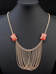 Femme Colliers chaînes Colliers Déclaration Bijoux Bijoux Résine AlliageBasique Original Acrylique Amitié Durable Bijoux de Luxe Sexy