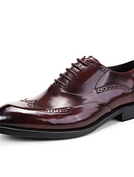 cheap -Men's Formal Shoes Leather / Cowhide Spring / Fall Formal Shoes Wedding Shoes Coffee / Brown / Burgundy / Party & Evening / Brogue