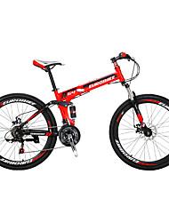 Bicicleta Dobrável Bicicleta De Montanha Ciclismo 21 velocidade 26 polegadas/700CC Shimano Freio a Disco Duplo Suspensão GarfoQuadro de