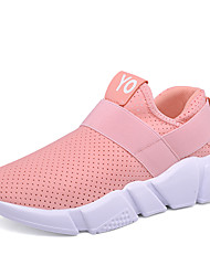Недорогие -Для женщин Кеды Удобная обувь Резина Весна Осень Атлетический Повседневные Для фитнеса Удобная обувь На плоской подошвеБелый Черный