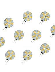 cheap -10pcs 2.5W 220lm G4 LED Bi-pin Lights 15 LED Beads SMD 5630 Warm White White 12V
