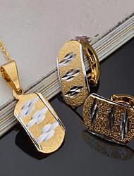 Недорогие -Жен. Свадебные комплекты ювелирных изделий Винтаж Euramerican Позолота Серьги Бижутерия Золотой Назначение Для вечеринок Для праздника / вечеринки На каждый день