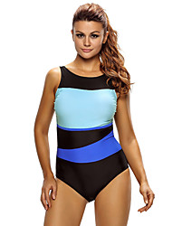 cheap -Women's One Piece Swimsuit Chlorine resistance, Lightweight Materials, Reduces Chafing Tactel Swimwear Beach Wear Bodysuit Patchwork Swimming / Diving / Surfing