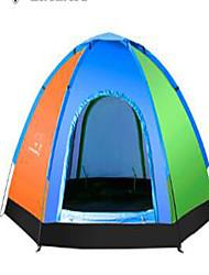 Недорогие -3-4 человека Дорожная сумка Тент для пляжа Один экземляр Палатка Складной тент Сохраняет тепло Ультрафиолетовая устойчивость для Отдых и
