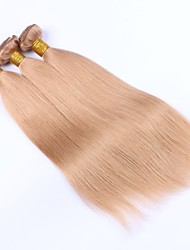 Bea Hair MalaysianStraight Hair 3 Bundles Dark Blonde #27 Virgin Human Hair Wefts Hair Extensions Deal with Mixed Lengths 100% Human Hair