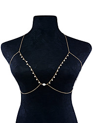 cheap -Women's Body Jewelry Body Chain Fashion Imitation Pearl Iron Cooper Geometric Jewelry ForSpecial Occasion Dailywear Casual Stage