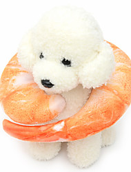Недорогие -Плюшевые игрушки Скрип Продукты питания Хлопок Назначение Собака Щенок
