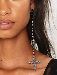 cheap -Women's Drop Earrings - Cross Silver For Christmas Gifts / Party / Special Occasion