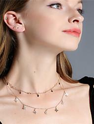 cheap -Women's Crystal Crystal Star Jewelry Set - Personalized Tassel Euramerican Multi-ways Wear Fashion Moon Star Pendant Necklace Chain