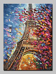 cheap -Large Size Hand Painted Knife Tower Oil Painting On Canvas Modern Wall Art Pictures For Home Decoration No Frame