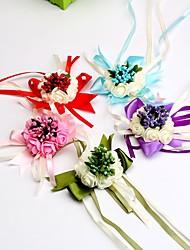 """baratos -Bouquets de Noiva Buquê de Pulso Casamento Ocasião Especial Cetim 2.76""""(Aprox.7cm)"""
