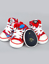 Dog Shoes & Boots Casual/Daily Sports Color Block Red Green Blue For Pets