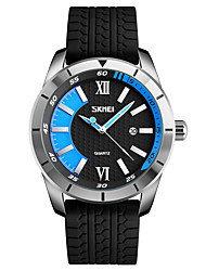 cheap -Skmei® Men's Outdoor Sports Silicone Strap Quartz Wrist Watch 30m Waterproof Assorted Colors