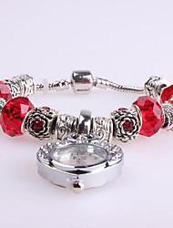 Women's Bracelet Watch Digital Metal Band Red
