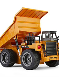 cheap -RC Car HUINA 1540 6 Channel 2.4G Dump Truck Mine Car Bulldozer 1:18 KM/H Remote Control / RC Rechargeable Electric