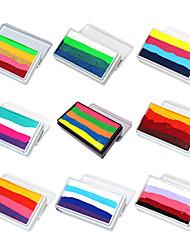 abordables -ophir color normal arco iris pintura del cuerpo pintura de la cara pigmento de maquillaje 30g / set multicolor serie de arte corporal para halloween