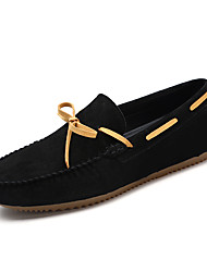 Men's Boat Shoes Comfort Moccasin Fall Winter Pigskin Casual Flat Heel Black Gray Dark Brown Khaki Flat