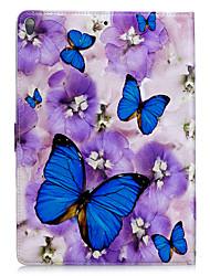 economico -Per la mela ipad 2 3 4 air2 pro 10.5 caso di copertura della farfalla del modello pu materiale triplice piatto piano del telefono delle