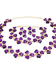 Femme Set de Bijoux Collier / Bracelet Nuptiales Parures Strass Classique Rétro Mode euroaméricains Style Simple Mariage Soirée Occasion