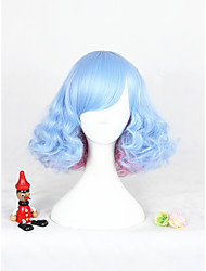 cheap -Blue Pink Mixed Lolita Wig For Girls Free Shipping 12inch Short Curly Synthetic Anime Cosplay Party Hair Wig Heat Resistant Wig