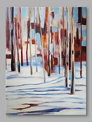 cheap -IARTS® Hand Painted Oil Painting Modern Natural Sunny Winter Forest Abstract Art Acrylic Canvas Wall Art For Home Decoration