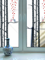Window Film Window Decals Style Birds in The Trees Dull Polish PVC Window Film - (60 x 116)cm