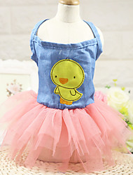 Cat Dog Dress Dog Clothes Casual/Daily Animal Green Blue Blushing Pink Light Blue
