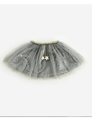 cheap -Girls' Solid Skirt Summer White Black Beige Gray