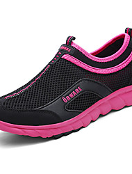 Damen Loafers & Slip-Ons Leuchtende Sohlen Atmungsaktive Mesh Sommer Normal Walking Leuchtende Sohlen Flacher Absatz Schwarz Grau 5 - 7 cm