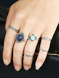 Women's Band Rings Ring Cuff Ring Circular Africa Fashion Personalized Rock Euramerican Metal Alloy Resin Alloy Circle Jewelry For